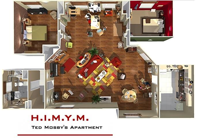 How i met your mother 39 s wohnung in 3d homebyme - Home by me ...