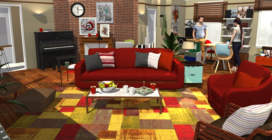 How i met your mother apartment in 3d homebyme - Home by me ...