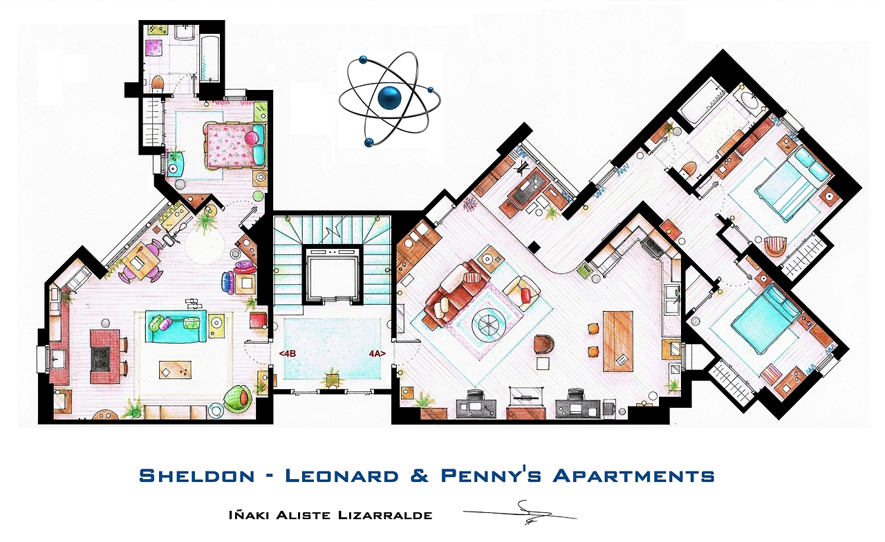 The-Big-Bang-Theory-sheldon-leonard-appartement