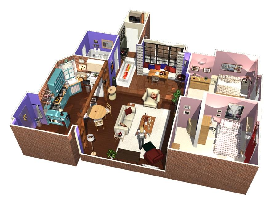 L Appartement De Friends En 3d Homebyme