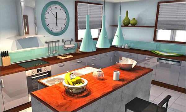 10 increíbles cocinas creadas utilizando HomeByMe – Enero | HomeByMe