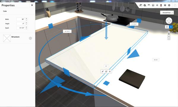 Comment ajouter du m tal votre cuisine homebyme for L outil 3d cuisine koncept by confo