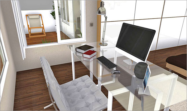 HomeByMe is a 3D online space planning service developed by 3DVIA