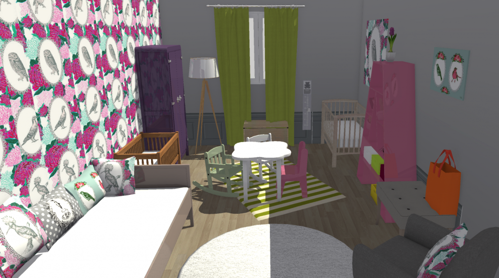 8 projets de chambres d 39 enfants d couvrir en 3d homebyme. Black Bedroom Furniture Sets. Home Design Ideas