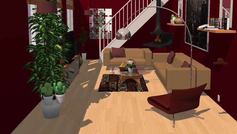 Cheyjordan - Maroon-Living Room