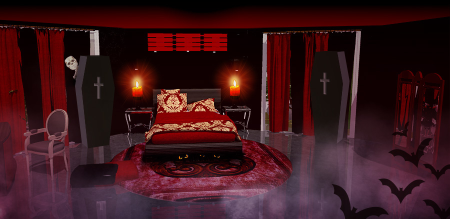 Halloween red room