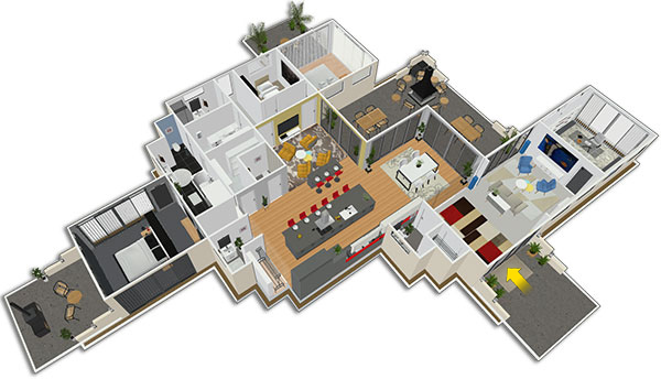 Plan de grande maison 170 best images about plan de - Home by me ...